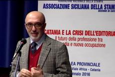 Intervento di Giacomo Pignataro, rettore dell'Università di Catania all'assemblea di Assostampa Catania del 24 gennaio 2016