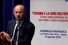 Intervento di Luigi Ronsisvalle, consigliere nazionale Fnsi, all'assemblea provinciale di Assostampa Catania - Le Ciminiere, 24 gennaio 2016