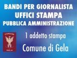 Il Comune di Gela seleziona giornalista per incarico annuale