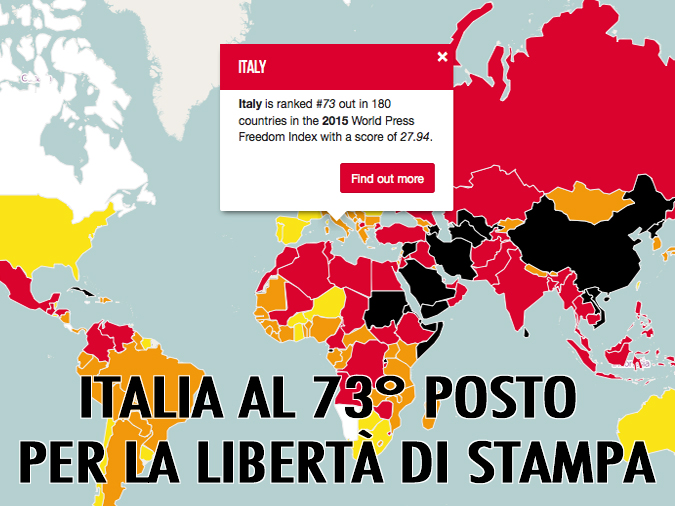 Italy ranked 73 World Press Freedom